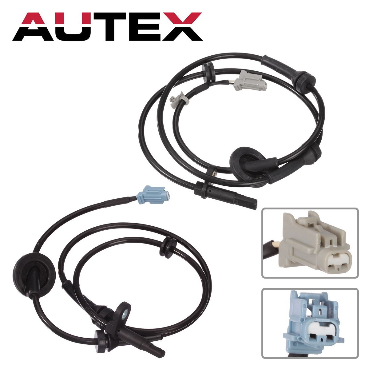 AUTEX 2PCS ABS Wheel Speed Sensor Front Left & Right ALS286 ALS290 47911-CA000 47910-CA000 compatible with 2004 2005 2006 2007 2008 Nissan Murano 3.5L 04 05 06 07 08 Nissan Murano 3.5L