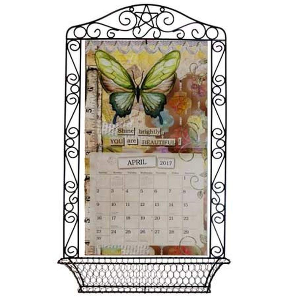 Wrought Iron Calendar Frame, Assorted Organization by Lang Companies by The LANG Companies