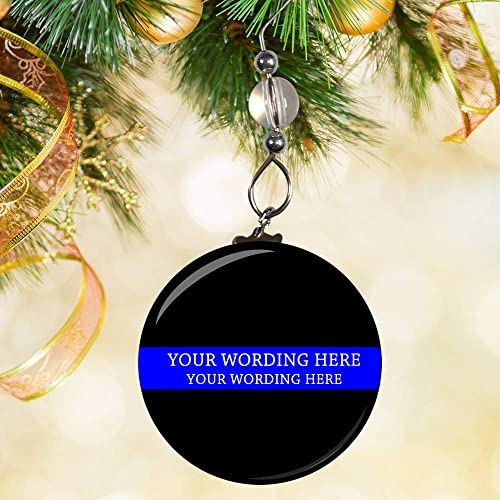 police ornament police officer ornament thin blue line ornament - Police Officer Christmas Decorations