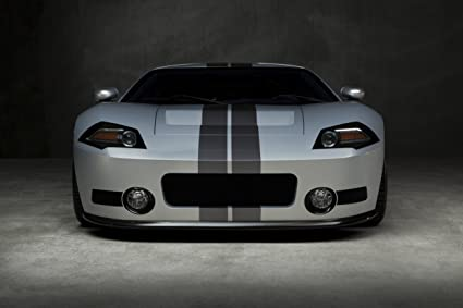 2013 Ford GTR1 by Galpin Auto Car Art Poster Print on 10 mil Archival Satin Paper Blue Interior View 16x12