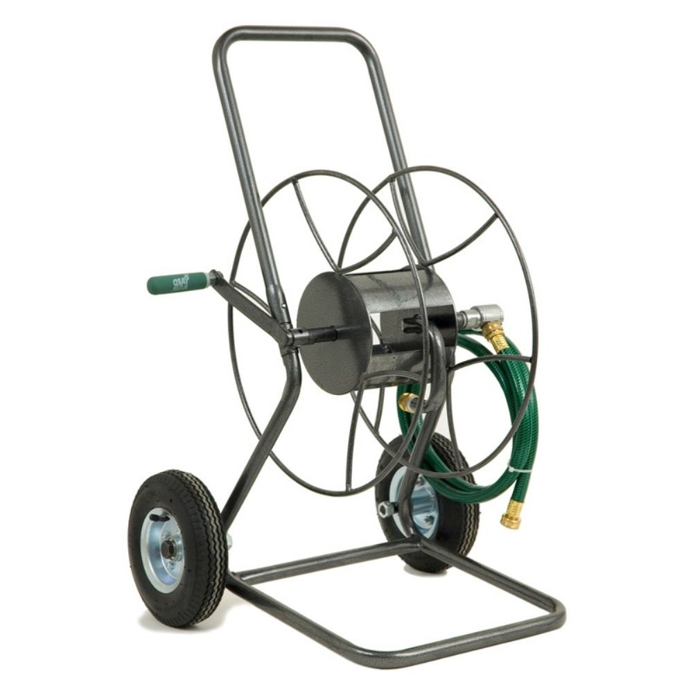 Hose Reel. Best Hideaway With Smart Trak & Flexible For Water Pipe 100 Portable & Lightweight Holder. Perfect For Garden, Yard, Backyard, Patio, Poolside, Lawn Cleaning & Car Wash. Space Saver