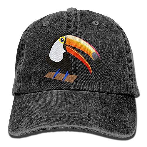 Toucan Hat Costume (Men's Or Women's Cute Toucan Denim Fabric Adjustable Street Rapper Hat)