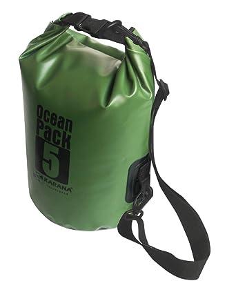 d1d488d9c67 Karana Ocean Dry Pack Day Waterproof Travel Kayak Bag 5 Litre 5L Green   Amazon.co.uk  Clothing