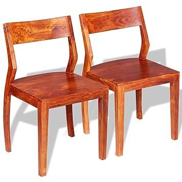 Binzhoueushopping Chaises Pour Salon De Salle A Manger Marron En