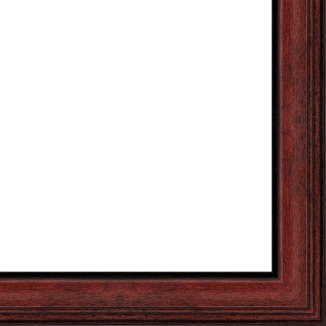 Picture Frame Moulding (Wood) 18ft bundle - Traditional Mahogany Finish - 2.375'' width - 1/2'' rabbet depth