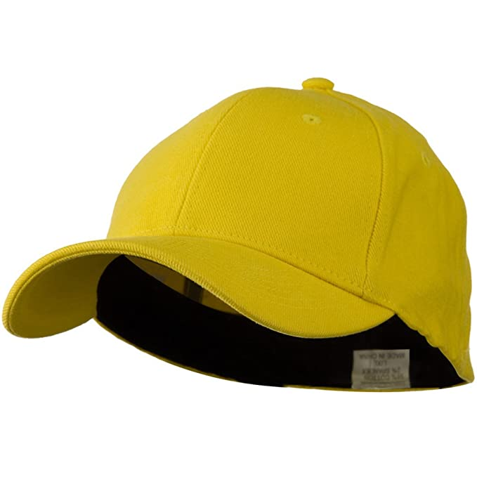 Stretch Heavy Weight Brushed Cotton Fitted Cap - Yellow W37S51C at ... a301efa625a
