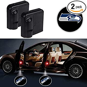 Car Door Led Wireless Logo Light Welcome Decor Lamp Laser Courtesy Shadow Projector Atmosphere Accessories Suitable for All Brands of Cars For Arizona Cardinals 2 Pack