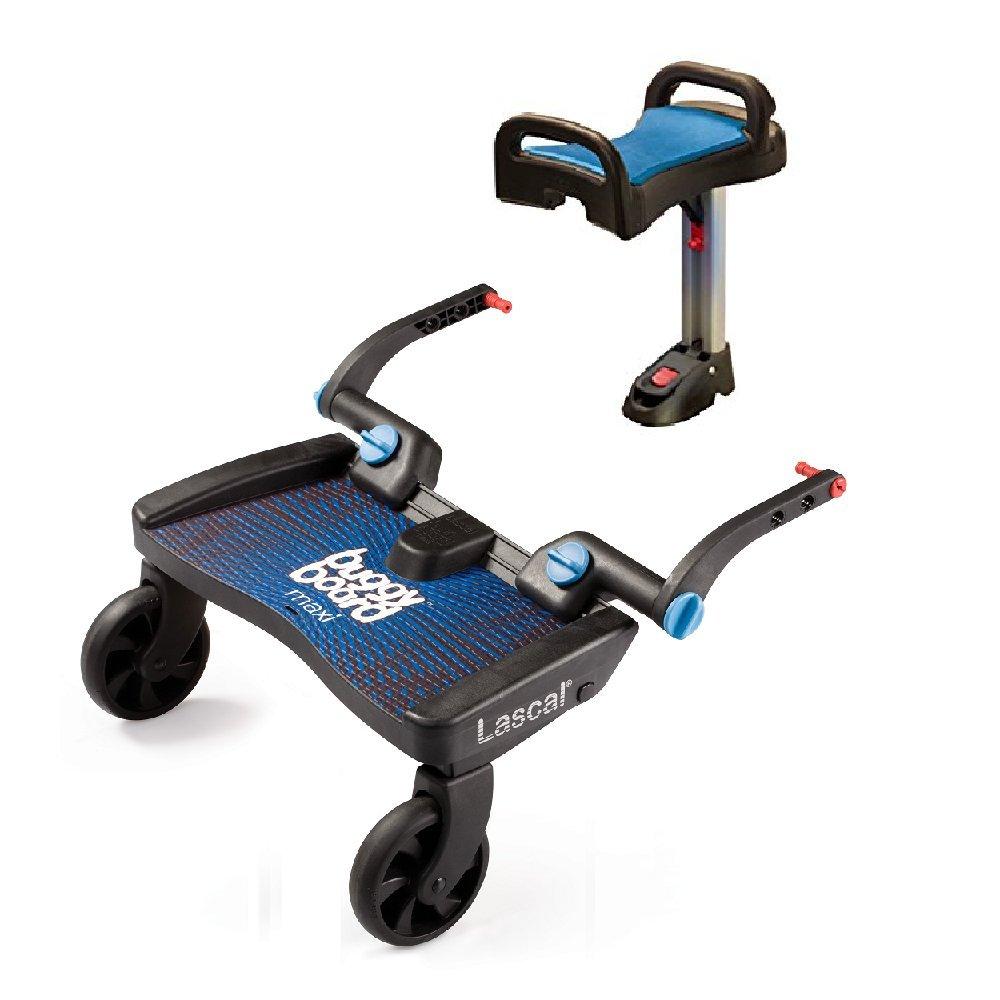 Lascal - Maxi Blue BuggyBoard Buggy Board Plus Blue Saddle