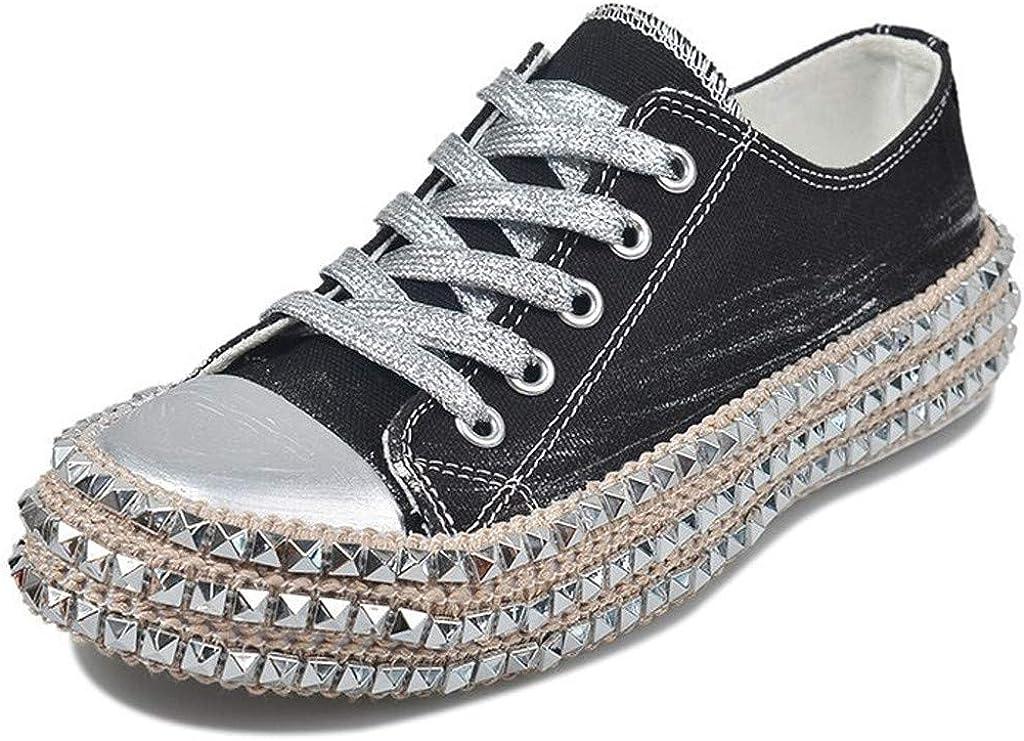 Luckycat Remache Zapatillas de Deporte Mujer Zapatillas Canvas de ...