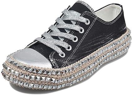 Luckycat Remache Zapatillas de Deporte Mujer Zapatillas Canvas de Lona Estilo Casual y Deportivo Alpargatas Planas Zapatillas Deportivas de Mujer Running Zapatos para Correr Gimnasio Calzado: Amazon.es: Relojes