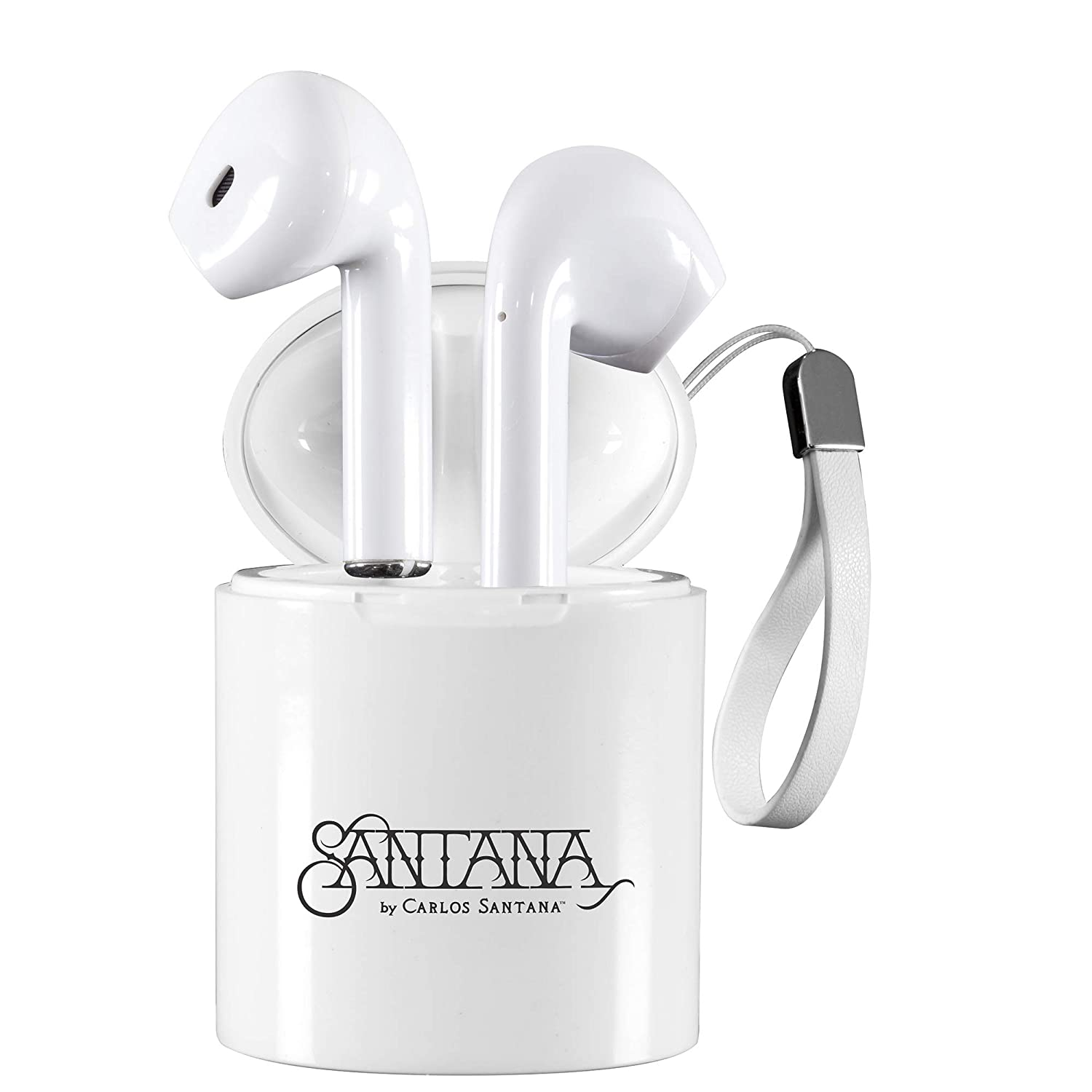 Tango by Carlos Santana TWS True Wireless Earbuds Bluetooth 5.0 Headphones with Charging Case, in-Ear Built-in Mic Bluetooth Deep Bass Stereo Headsets, Noise Cancelling Wireless Earbuds for Sport