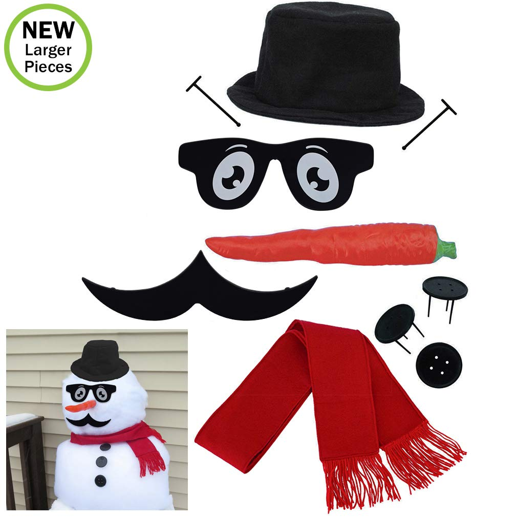 Evelots Perfect Snowman Decorating Kit-16 Pieces-Family Fun-Sturdy Prongs-Set//2