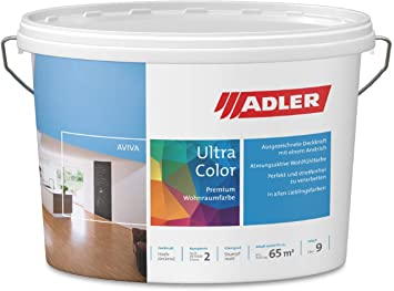 Adler Ultra Color Wandfarbe Erstklassige Matte Wand Deckenfarbe Blue Sky C12 054 4 Hohe Deckkraft Atmungsaktiv Losungsmittelfrei Blau 1 L In 100 Pastell Farbtonen Adler Amazon De Baumarkt
