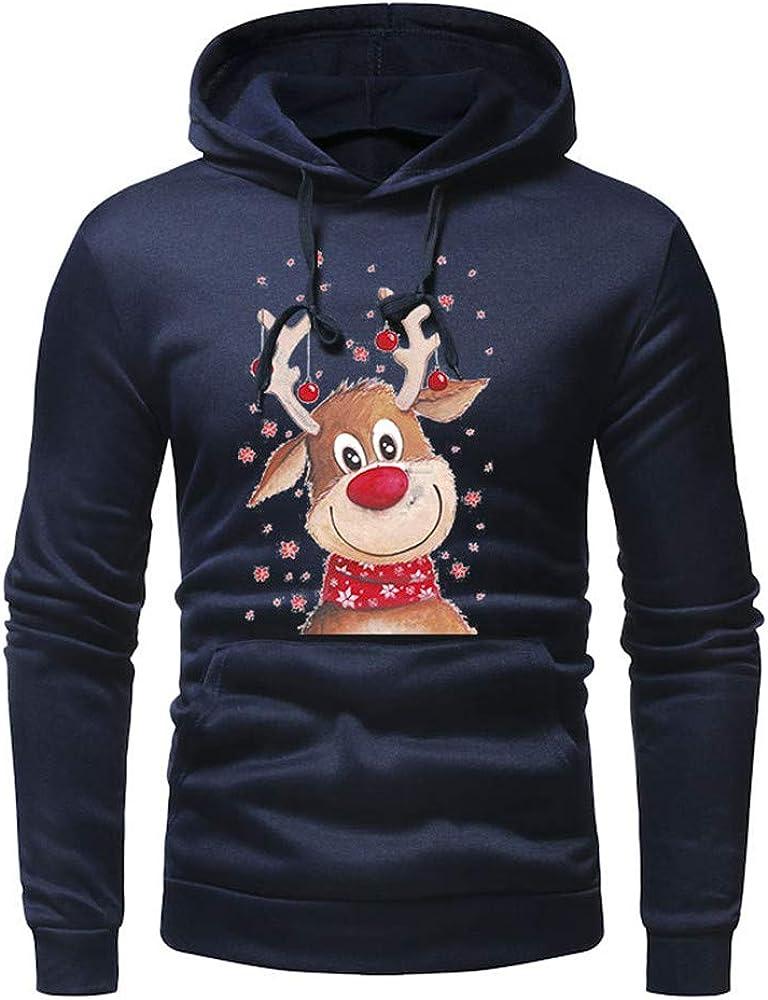 Hoodies for Men,Vickyleb Mens Long Sleeve Hooded Sweatshirt Casual Pullover Lightweight Patchwork Zipper Tops