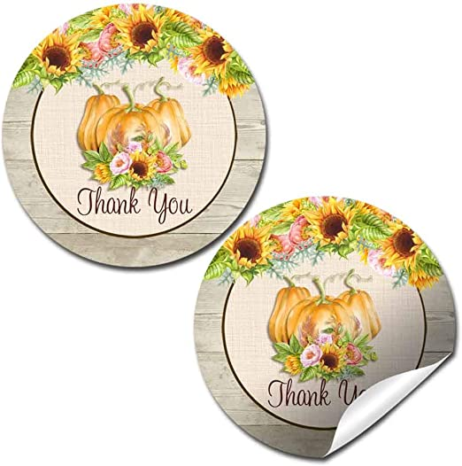 Peonies Thank You Stickers