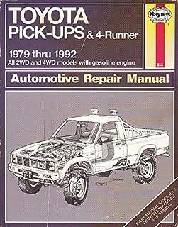 toyota pick ups 4 runner 1979 95 automotive repair manual larry rh amazon com Toyota Wiring Diagrams Vehicle Repair Manuals