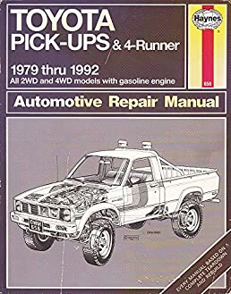 toyota pickup 1979 to 1992 john raffa 9781563920417 amazon com books rh amazon com 1992 toyota pickup repair manual 1992 toyota pickup parts manual