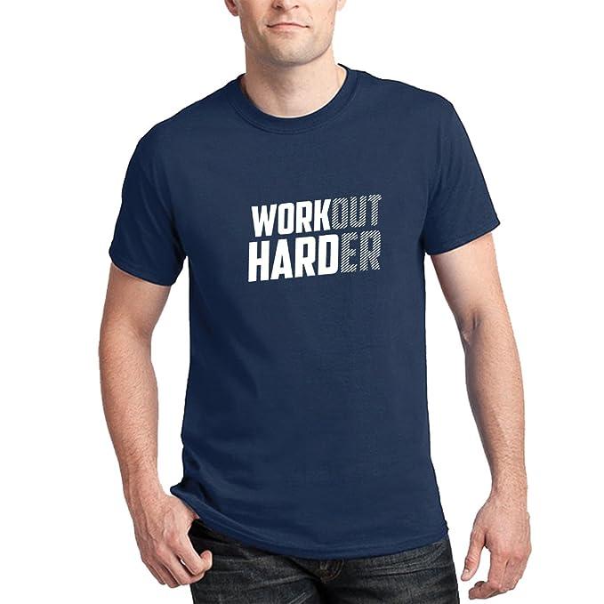 variety design 2019 hot sale better Teecreep Workout Harder Gym Printed Cotton T-Shirt: Amazon ...