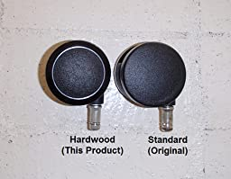 Casters For Hardwood Floors office chair wheels replacement rubber chair casters for hardwood floors carpet Review Image