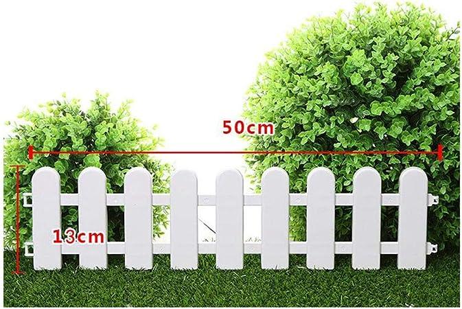 WXQ - Valla de jardín para Exteriores, con riel de Animales, Borde de Flor, Borde de la Cama, Borde de PVC, Impermeable, 12 tamaños, PVC, Blanco, H: Amazon.es: Hogar