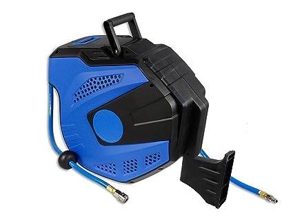 vetrineinrete® Automático Manguera De Aire Comprimido 20 m retráctil con cuaderno Bobina alargador para compresor