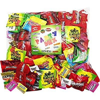 Christmas Candy Party Mix Bulk Bag of 3 Lbs Skittles Swedish Fish Nerds Haribo Gummy Sour Patch Twizzlers Life Savers Starbutst Mike and Ike Custom Varietea Peppermints n' more! Net wt 3.0 LB/48 oz from Custom Varietea
