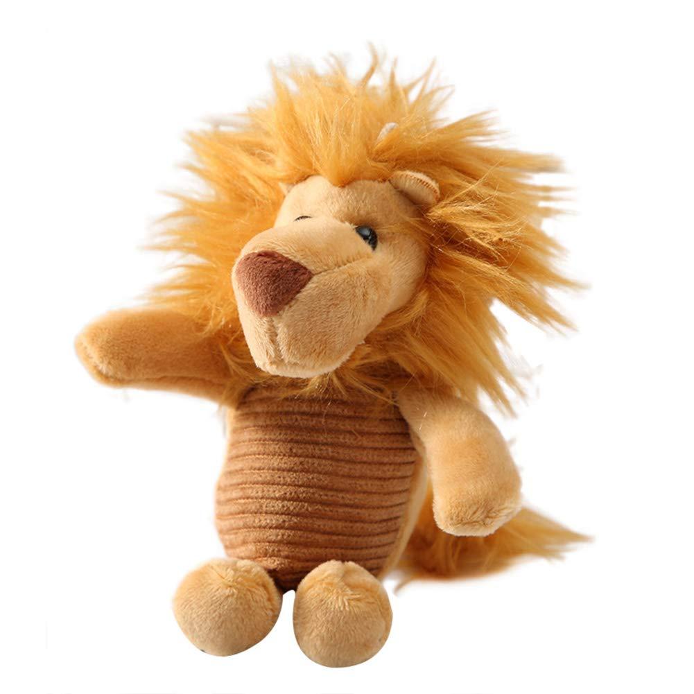 yanbirdfx Elephant Lion Plush Doll Pendant Car Keychain Key Ring Bag Hanging Decor Gift - Lion