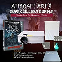 Amosfearfx Bone Chillers Video Projector Bundle.includes Projector, Dvd, window and Hologram Screen.