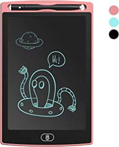 LCD Writing Tablet for Kids - Electronic Gifts Writing Pad, Drawing Pad, Doodle Boards LCD Writing Tablet 8.5 inch (Pink)