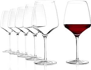 Copas de Vino Tinto Experience Borgoña de Stölzle Lausitz, 695 ml, set de 6, apta para el lavavajillas, tronco estirado: Amazon.es: Hogar