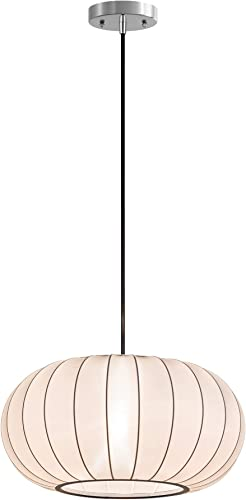 Henn Hart PD0070 Modern 1-Light Contemporary Style Translucent White Fabric Shade for