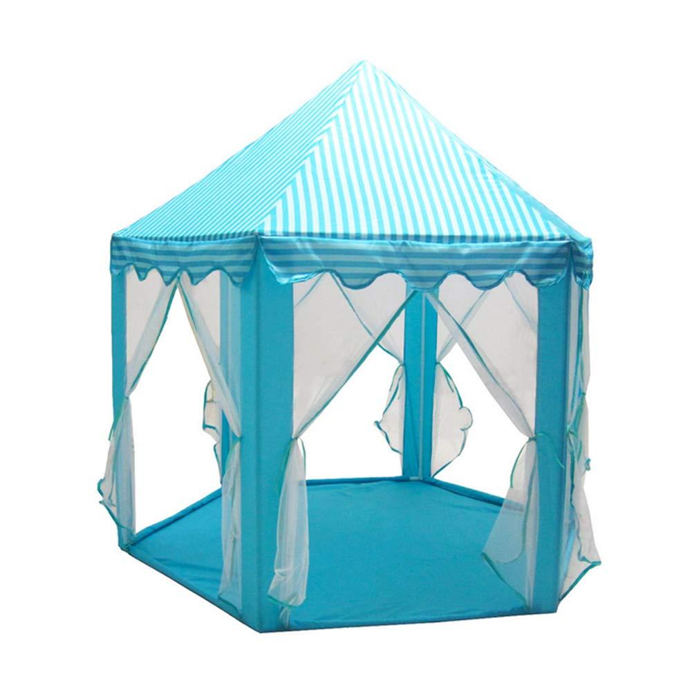 Nrrlove Kinder Spiel-Zelt Für Jungen Mädchen Kindertheater Kinder Cartoon Zelt Spiel House Konischen Zelt Mit Tragetasche Geschenk Für,Blau