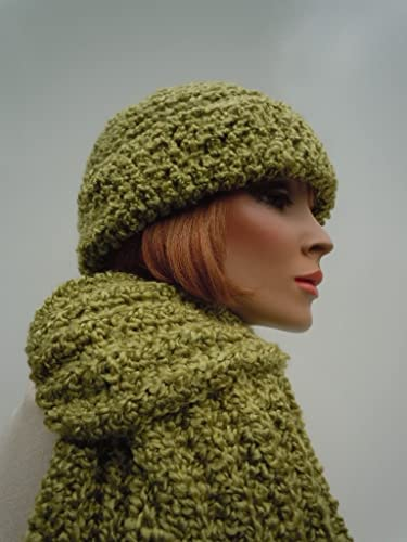 fc987f52 Image Unavailable. Image not available for. Color: Olive Green Hat Set ...