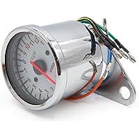sourcingmap® Universal cromado 0-13000RPM Accesorio de Motocicleta tacómetro