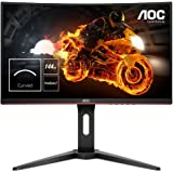 "AOC C27G1 27"" Widescreen VA LED Black/Red Curved Monitor (1920x1080/1ms/VGA/2xHDMI/DP)"