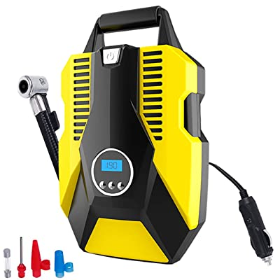 Portable Digital Air Compressor Tire Inflator for Car Tires, Car Air Pump 150PSI DC 12V with LED Light,Auto tire inflator for Car, Bicycle, Motorcycle, Basketball and Other Inflatables: Automotive