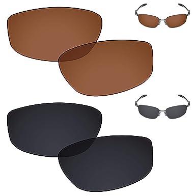 c107f25e8d Galvanic Replacement Lenses for Oakley Blender Sunglasses - Amber + Black  Polarized - Combo Pack