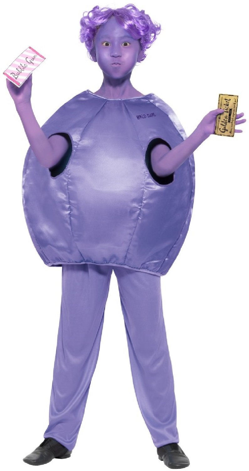 Girls Violet Beauregarde Willy Wonka Roald Dahl Charlie And The Chocolate Factory World Book Day Week Fancy Dress Costume Outfit 7 9 Years