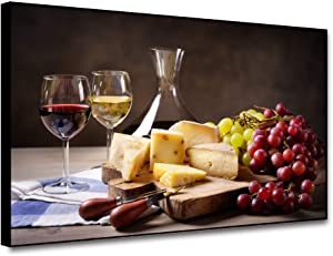 Musemailer Wine Canvas Wall Art for Kitchen 16