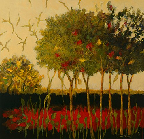 Lychee Trees , 35x36in. - Canvas Transitional 36