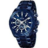Festina Men's - 1/F16887 - Orologio da uomo al quarzo con display con cronografo e cinturino in acciaio INOX, colore: blu