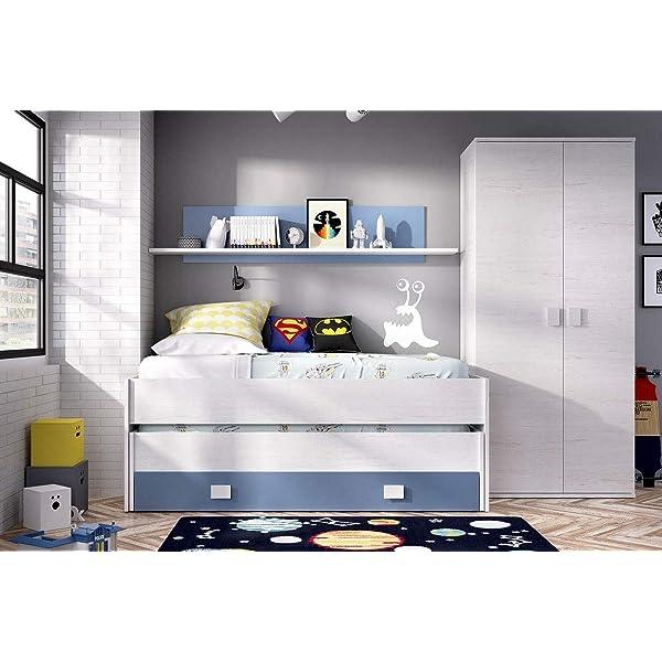 HABITMOBEL Pack Dormitorio Juvenil, Cama Nido 2 cajones + Armario ...