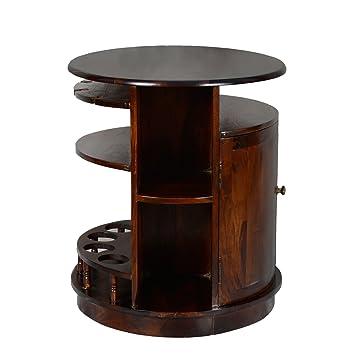 Rund Minibar Hausbar Crimson Aus Recyceltem Holz Massivholz