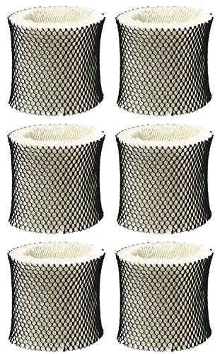 Nispira 6 Packs Holmes Type A Filter HWF62 HWF62CS Compatible Humidifier Wick Filter Replacement Fits HM1281, HM1701, HM1761, HM1297 and HM2409