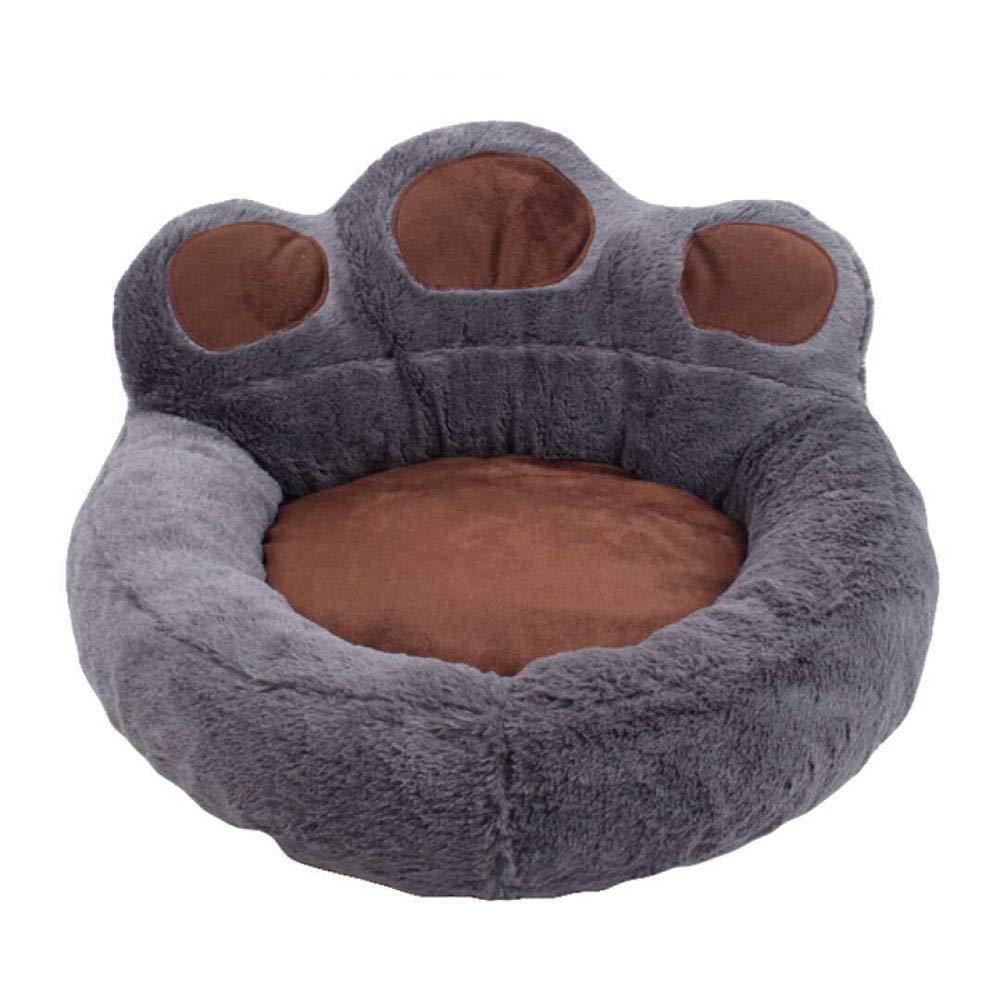 MUMUCW 猫の小型犬のためのペット用ベッド、柔らかく快適な洗える猫犬のベッド犬の洞窟のベッド猫および小型犬の残りのためのペット猫用ベッド Gray L l