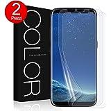 G-Color Pellicola Galaxy S8, [2 Pezzi] Trasparente Pellicola in TPU [Anti-bolla Errore Proof] per lo più Compatibile con Custodia per Samsung Galaxy S8-(Garanzia a vita)