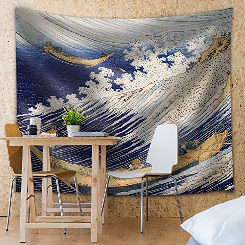 Katsushika Hokusai Ocean Waves Woodblock Print