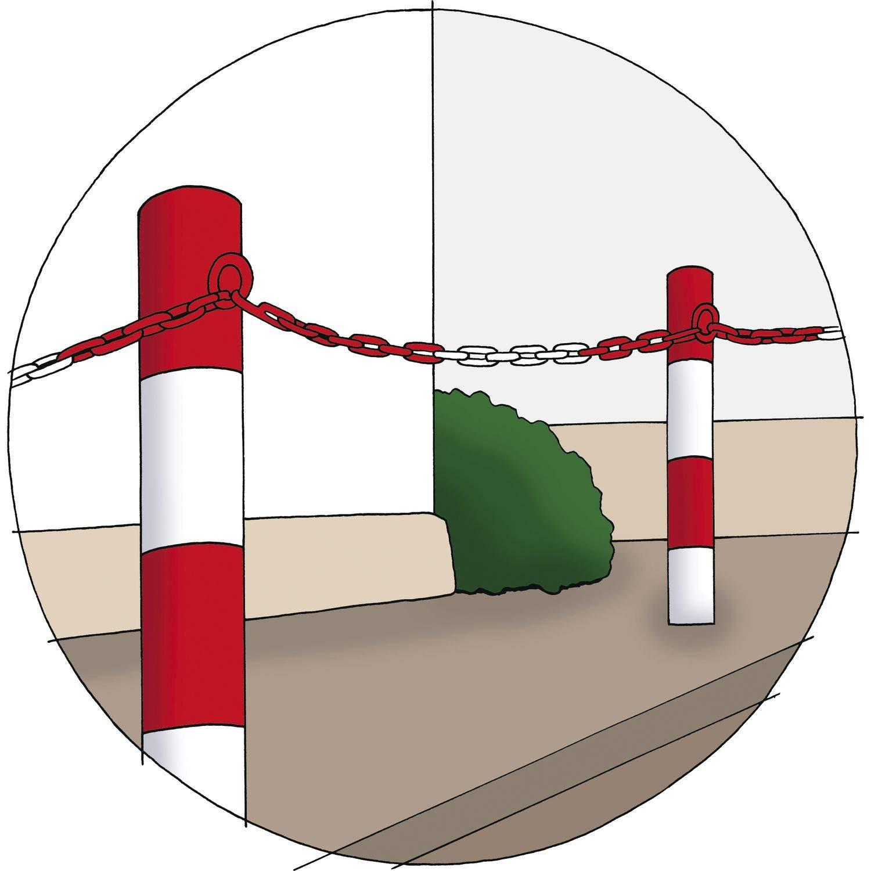 HELMER 163101 DIN5685-1 Barrier Chain Red//White Galvanised 6 mm 1 Fret = 15 Metres D/ÖRNER