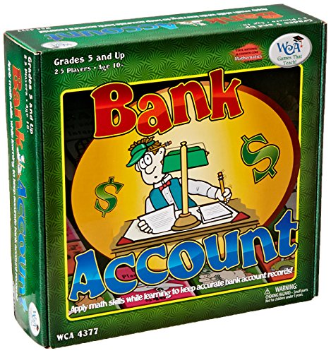 Learning Advantage 4377 Bank Account Game  Grade  5 To 12  9  Height  2 5  Width  8 5  Length