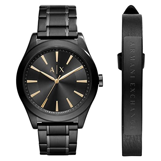 eba2fe07297 Armani Exchange Dress Black Stainless Steel Men s Watch AX7102   Amazon.co.uk  Watches